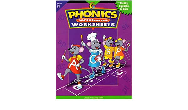 Workbook free phonics worksheets : Phonics Without Worksheets: Blends, Digraphs & More (K-2): Carol ...