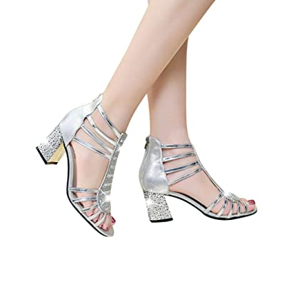 449e62b188dfc Amazon.com | Fheaven (TM) Women Summer Sandals Rivets Ankle Zipper ...