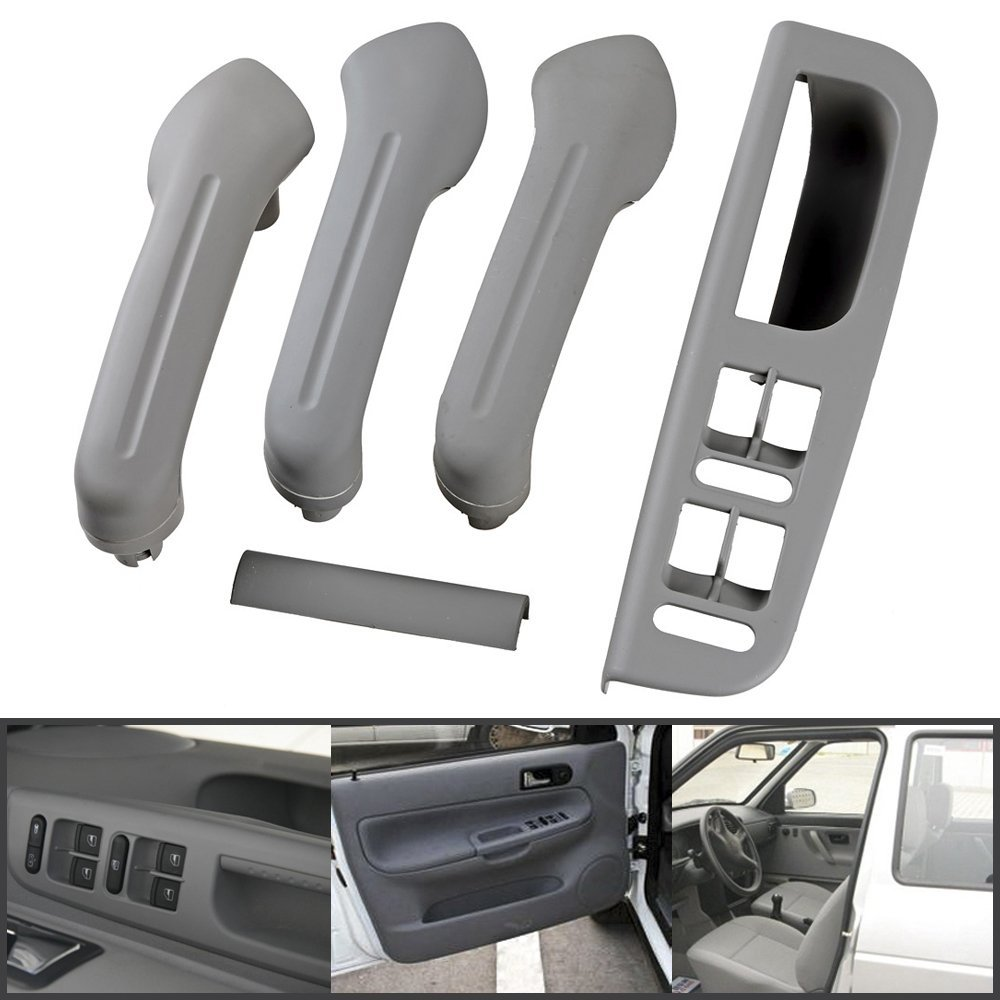 gray car interior door grab handle cover switch bezel for vw jetta golf bora mk4 ebay. Black Bedroom Furniture Sets. Home Design Ideas