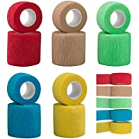SourceTon 10 Pieces Self Adhering Bandage, Injury Wrap Tape for Dogs Cats, Supports Muscles and Joints, Does Not Stick…
