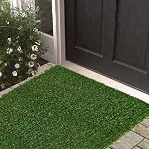 artificial grass 31 x20 39 runner rug indoor outdoor high quality green turf patio garden entry. Black Bedroom Furniture Sets. Home Design Ideas