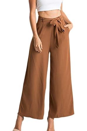 Pantalones Mujer Pantalones De Traje Pantalon Anchos ...