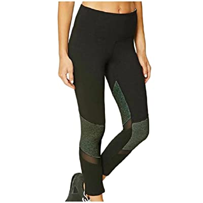 Abetteric Women's Faux Leather Graphic Print Tights Fashion Cropped Leggings