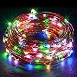 Kohree LED Christmas String Light, USB Fairy Starry Lights, Decorative Rope Lights for Bedroom Patio Garden Party Wedding, 33ft Copper Wire 100 LEDs, Multi-color