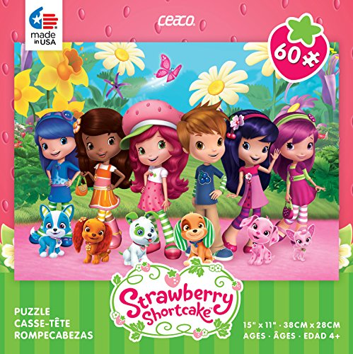 Ceaco Strawberry Shortcake Friends and Pets: 60 piece jigsaw puzzle