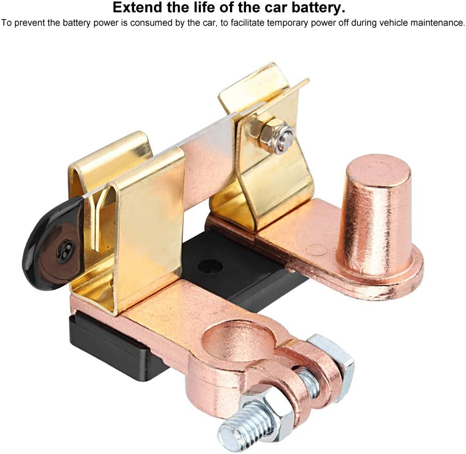Qii lu Messing Negativ Batterie Trennschalter Hauptauto Vertikal Messerschalter Batterieleistung abschalten