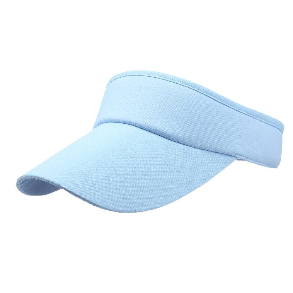 Unisex Sun Sports Visor Large Brim Summer UV Protection Beach Cap Top Level 100% Cotton Cap Outdoors Quick Dry Hat (Sky Blue) by Cealu (Image #1)