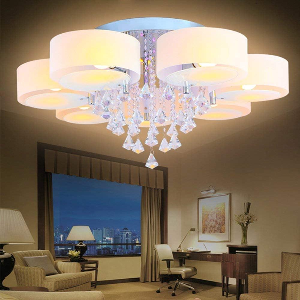 FSCM LED Deckenleuchte Warmwei/ß LED mit RGB Funktion LED Deckenlampe aus Acryl Kristall f/ür Wohnzimmer Schlafzimmer Flur Wohnzimmer Lampe K/üche Energie Sparen Licht Wandleuchte 5 Flammig - 35W LED