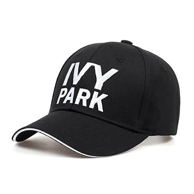 Ivy Park Baseball Cap Beyonce Sporty Style Cotton Hemp ash Hat Unisex Caps for Women Man Embroidery Gorras Black at Amazon Womens Clothing store:
