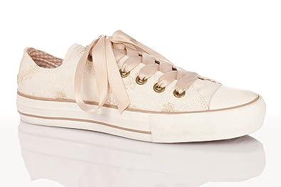 896f1ca9dccb Krüger MADL Trachten Damen Sneaker - Jane - Creme  Amazon.de  Schuhe ...