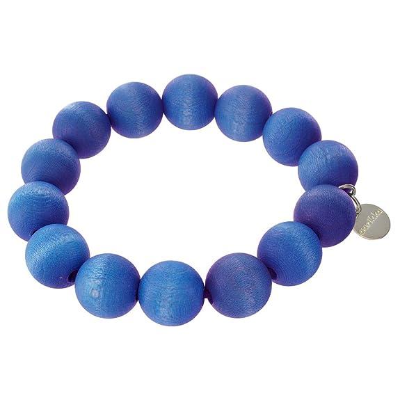 aarikka POHJOLA Armband aus Holzperlen, royal blau