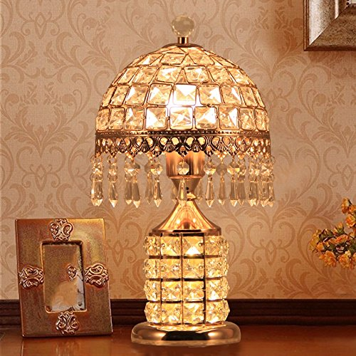 HH European Style Table Lamp Fashion Bedroom Crystal Decoration Creative Lamp