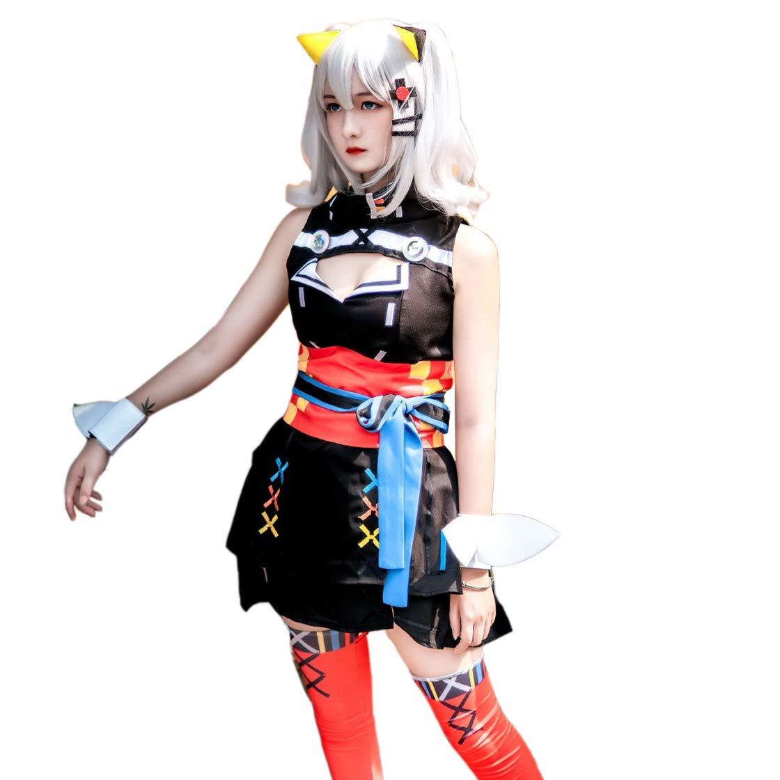 Cnstone コスプレ衣装 輝夜月ちゃん コスプレウイッグ追加できる コスチューム ハロウィン 仮装 (女性L, 衣装+ウイッグ) B07NWGGH8F 衣装 女性XL 女性XL|衣装