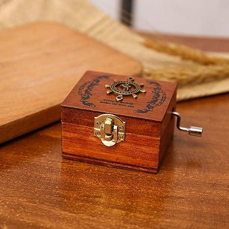 WHTBB Caja de música personalizable de madera, caja de música ...