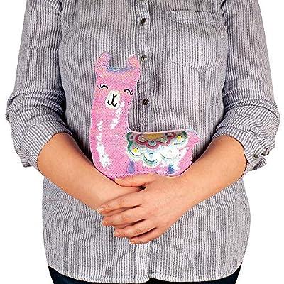 Fashion Angels Magic Sequin Llama Decorative Plush (77492) Llama Stuffed Animal with Reversible Sequins, Pink: Toys & Games