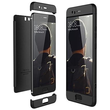 CE-Link Funda Huawei P10 Plus, Carcasa Fundas para Huawei P10 Plus, 3 en 1 Desmontable Ultra-Delgado Anti-Arañazos Case Protectora - Negro
