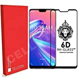 CELLUTION 6D Tempered Glass with Curved Edges and 9H Hardness Full Glue Edge to Edge Screen Protection for ASUS Zenfone Max Pro M2 (Black, 2018)