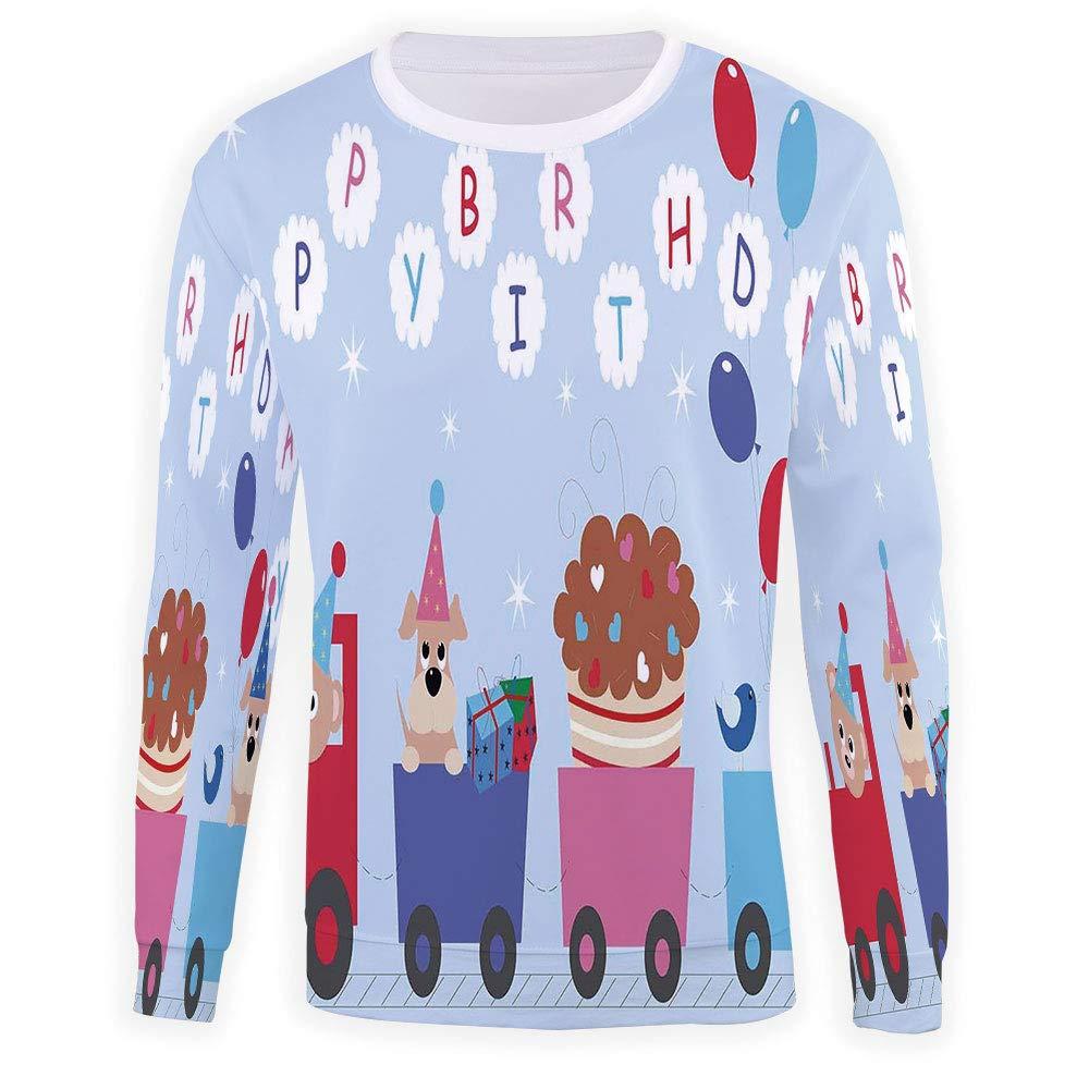 MOOCOM Mens Birthday Decorations Crewneck Sweatshirt-Unisex