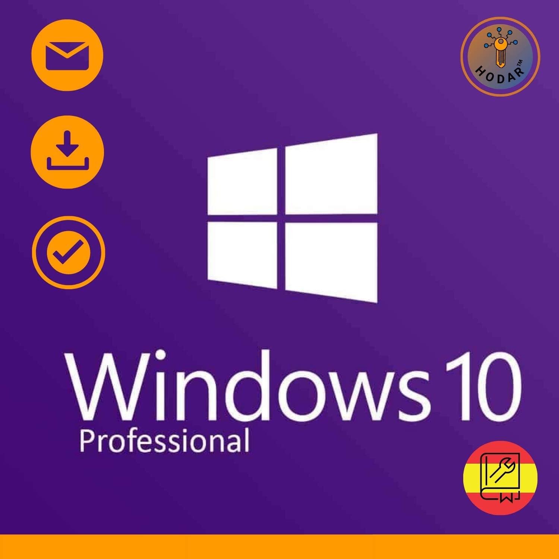 Windows 10 Pro (Professional) 32 / 64 bits Licencia | Windows 10 Home Upgrade | Clave de Activación Original | Español | 100% de garantía de activación | Entrega 1h-24h por correo electrónico