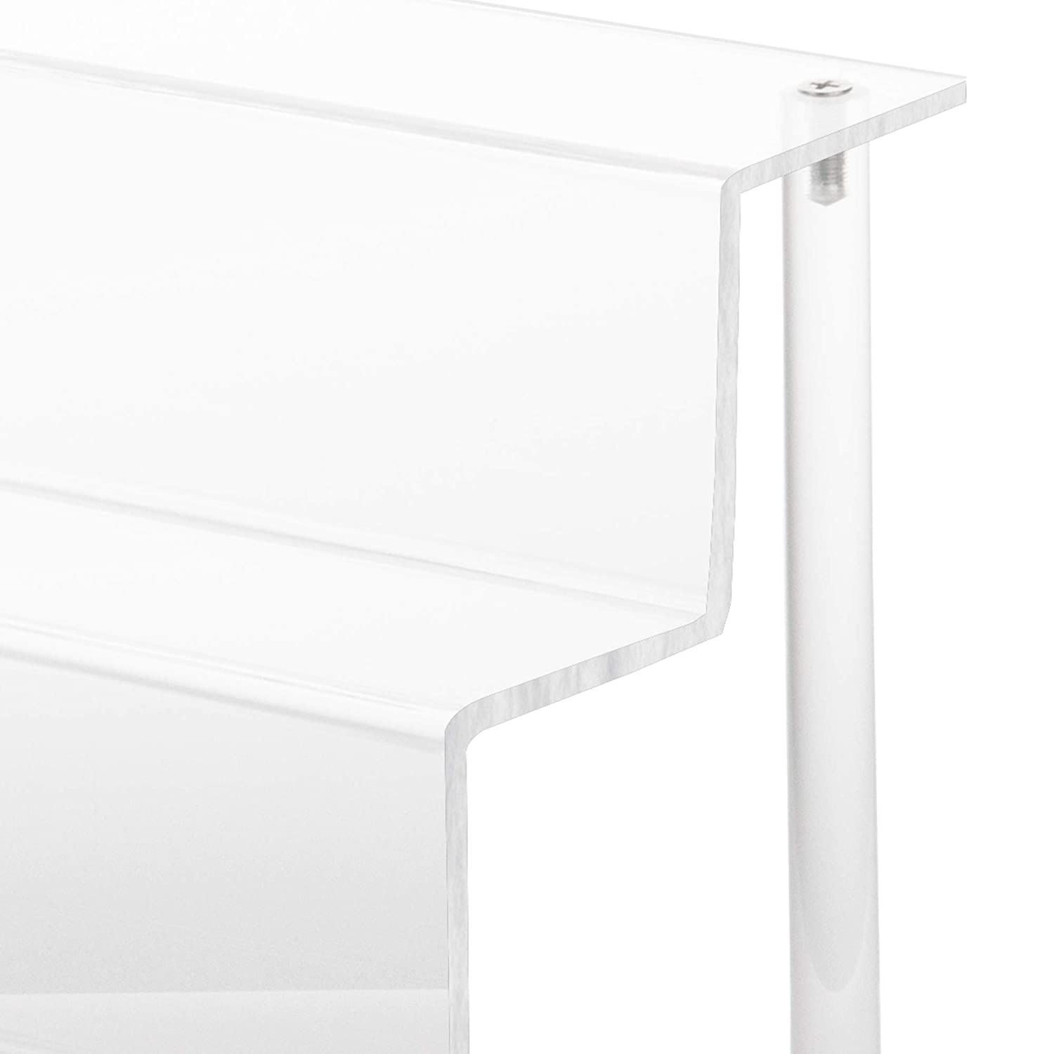 YestBuy 1 Pack 3 Step Clear Acrylic Shelf Riser Display 3-Tier Acrylic Display for Decoration and Organizer
