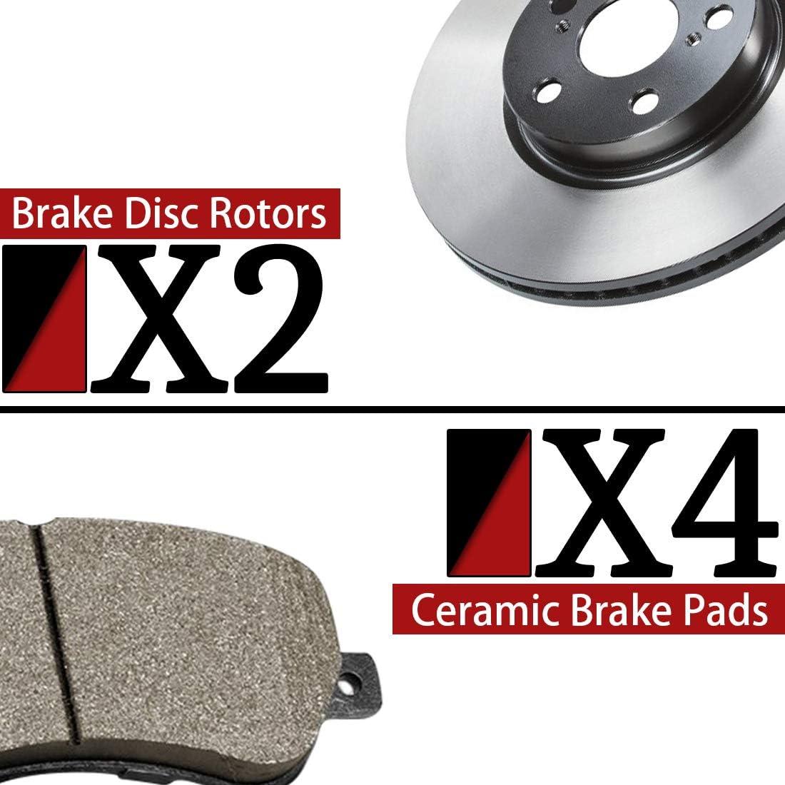 CAN OE Replacement Rotors w//Ceramic Pads F 2007 2008 Suzuki Swift//Swift+