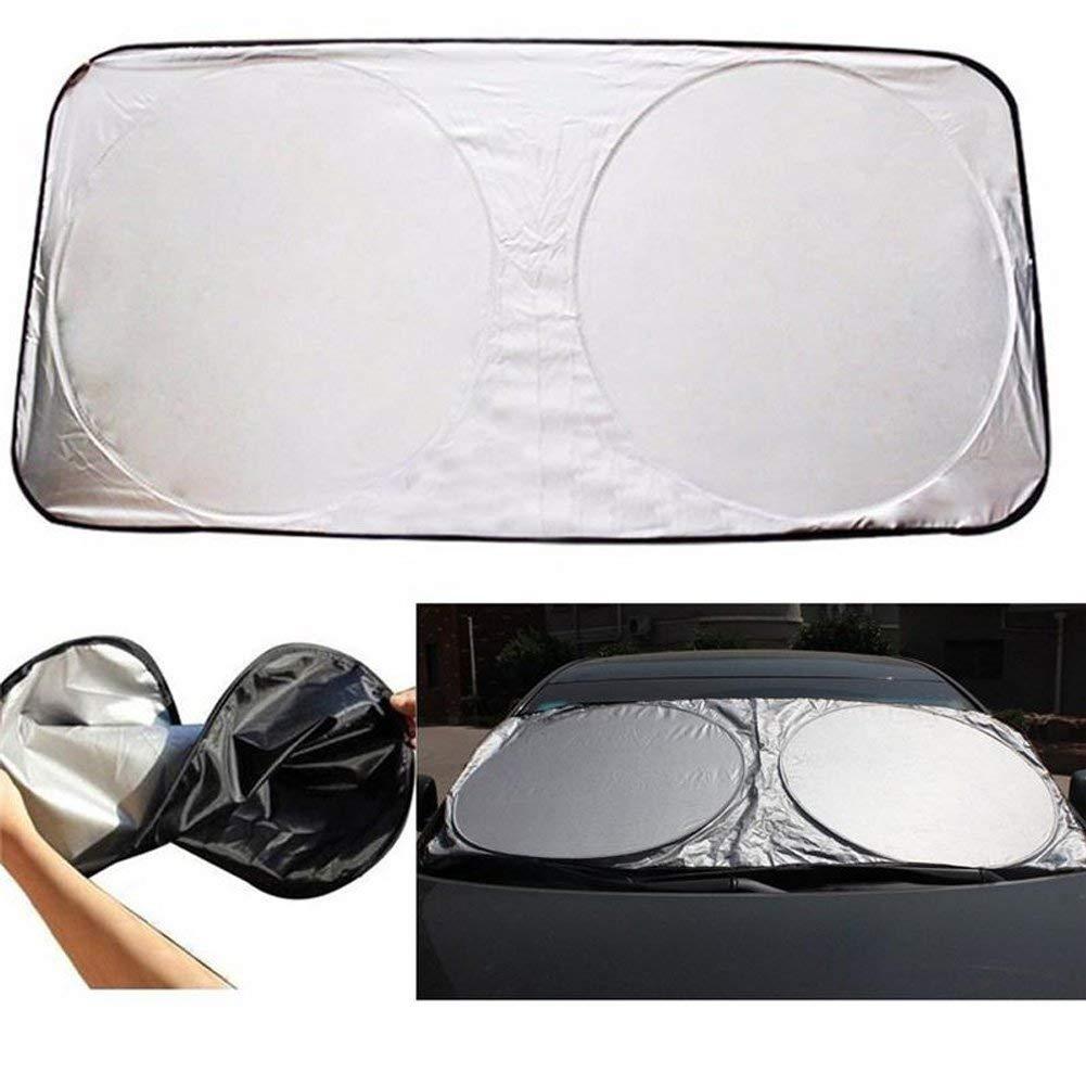 iWork L-82-355 Large Windshield Sunshade – UV Protection for Cars, Black