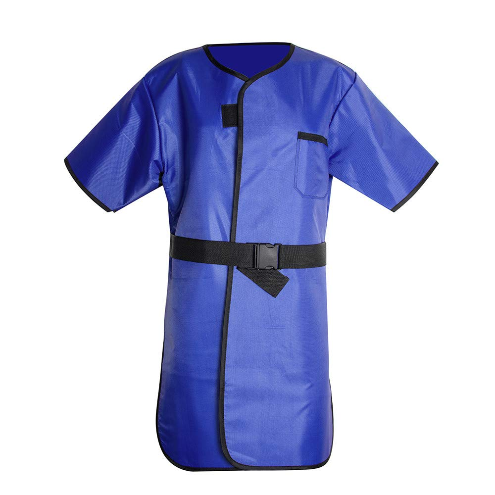 X-Ray Protection Apron,Fencia Flexible X-Ray Protective Cloth Lead Radiation Protection Apron Gel Coat 0.35mmpb Blue
