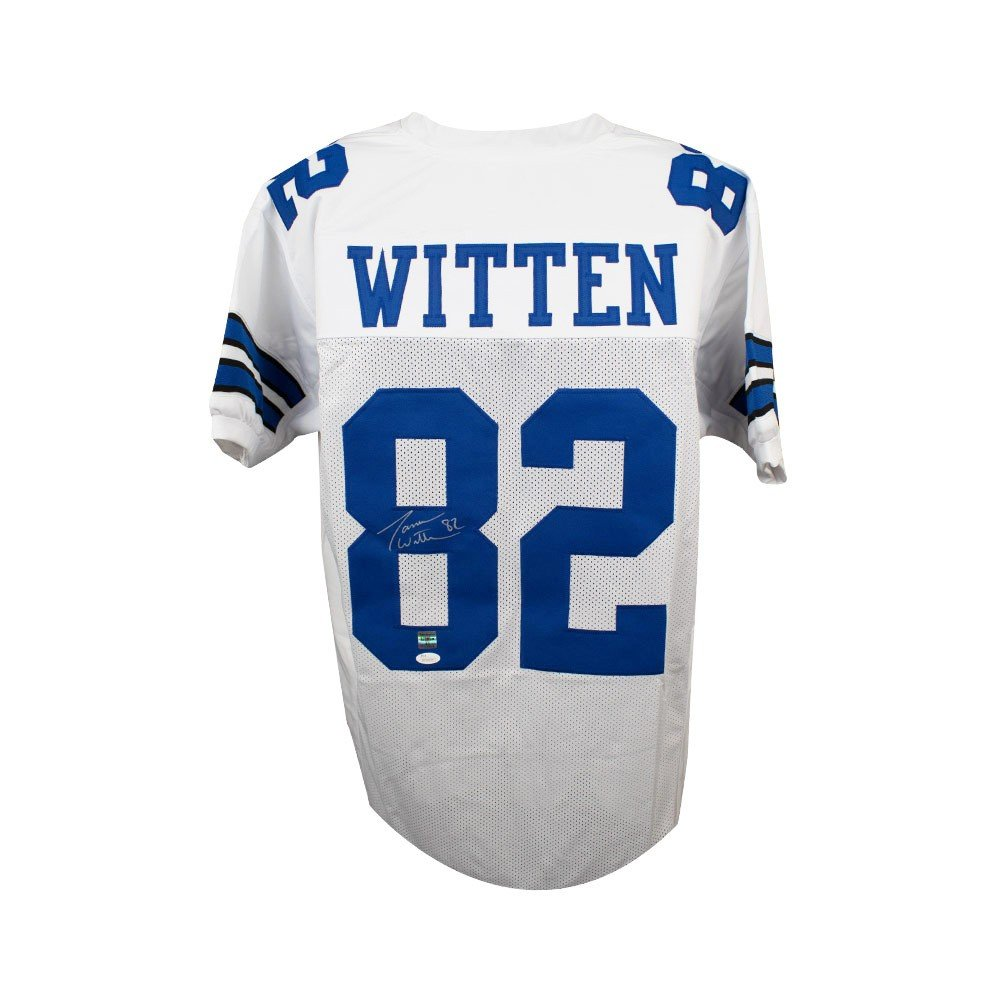 Jason Witten Autographed Dallas Cowboys Custom White Football Jersey - JSA COA SCC