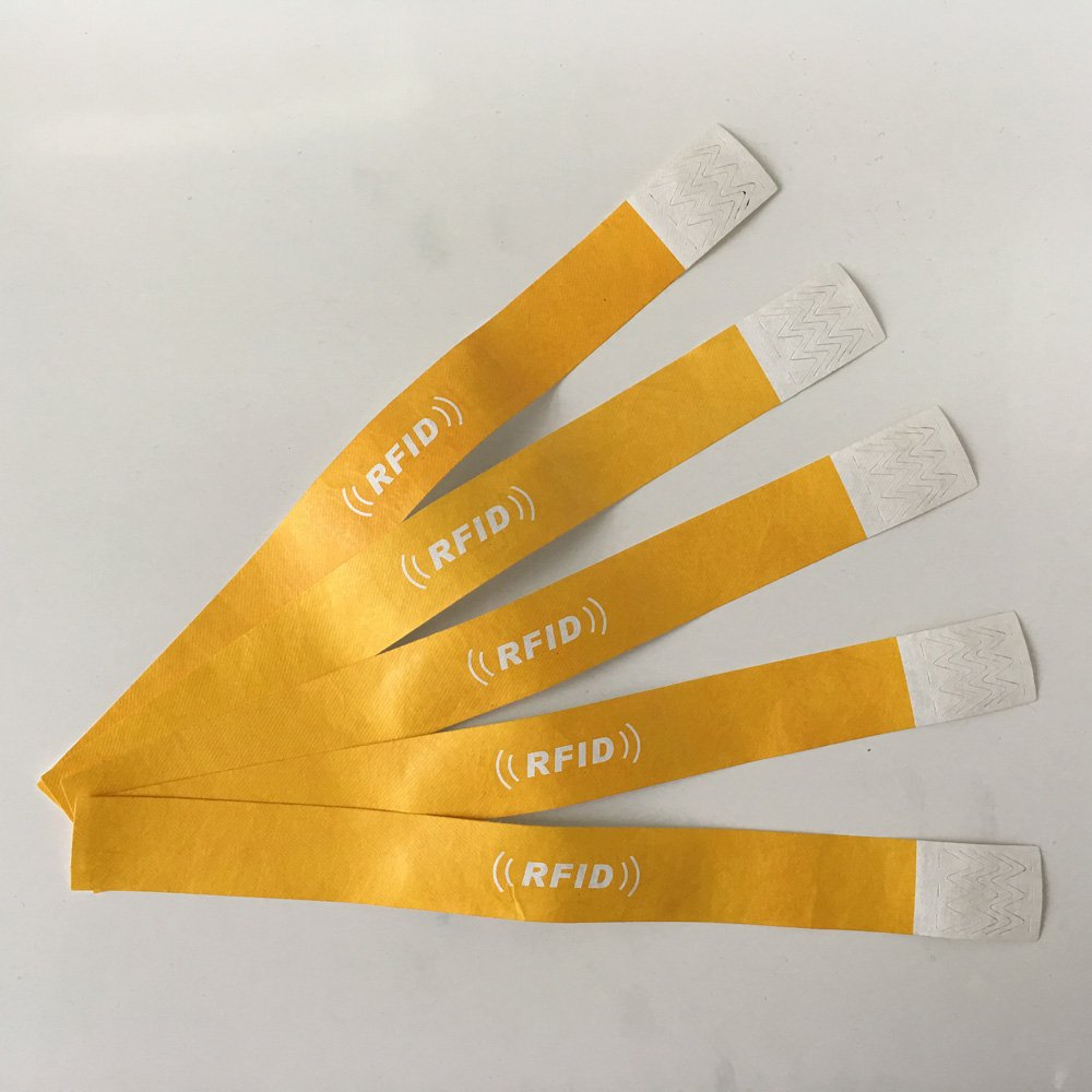 Black Tyvek Wristbands - 5 Pack Paper Wristbands For Events Card-Tech