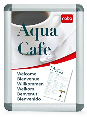 Nobo Clipframe A4 with Aluminium Frame: Amazon.co.uk: Office Products