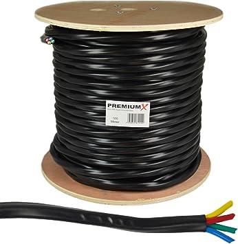 25m Antennenkabel 4-Fach für Quattro Quad Koaxial 4 in 1 LNB Koax Kabel HDTV 3D