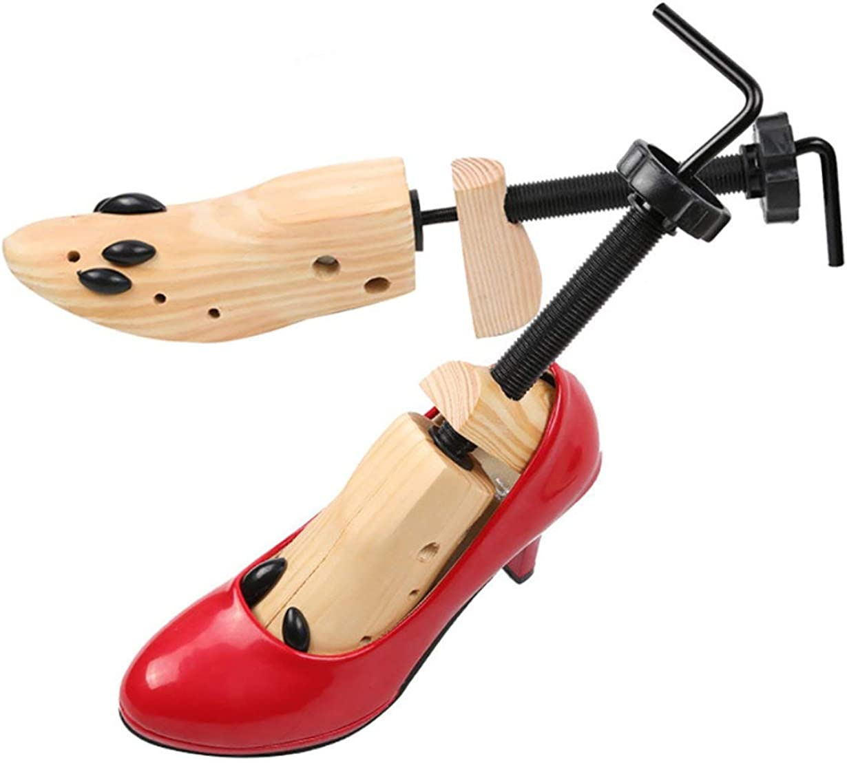 Sanzenling R/églable homme femmes appartements pompes en bois facile /à manipuler chaussures bottes Shaper Rack Expander chaussures civi/ère 1 ensemble
