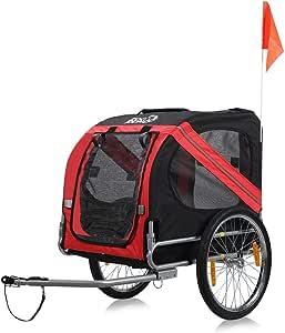 zoomundo Remolque Bicicleta Perros Transporte Carro en Verde/Negro - Silver Frame: Amazon.es: Productos para mascotas