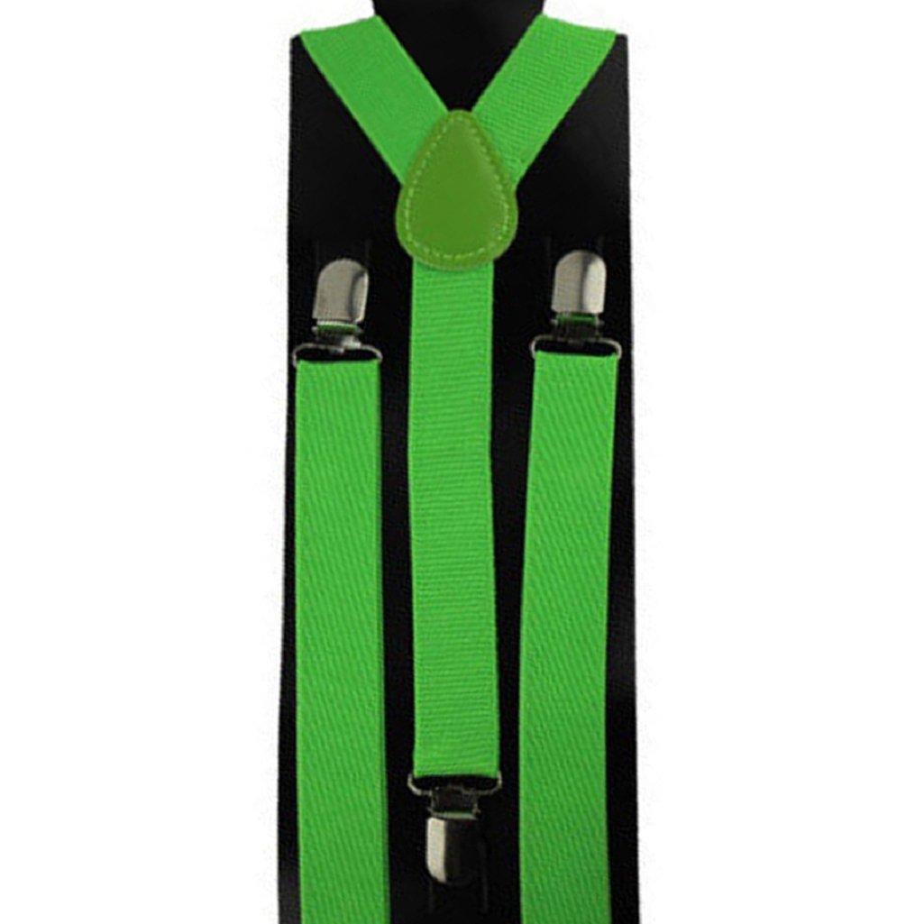 Trenton Unisex Candy Color Y-Back Clip Suspenders Adjustable Elastic Shoulder Strap