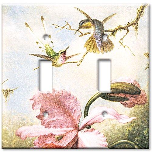 Art Plates (Art Plates - Heade: Orchids & Hummingbirds Switch Plate - Double)