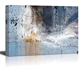 Abstract Canvas Art - Aged Wall - Giclee Print Modern Wall Decor | Stretched Gallery Wrap Ready to Hang Home Decoration - 12x18 inches