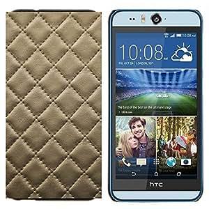 TECHCASE---Cubierta de la caja de protección para la piel dura ** HTC Desire Eye ( M910x ) ** --Cuero del patrón de la galleta de la galleta Costura Diamond