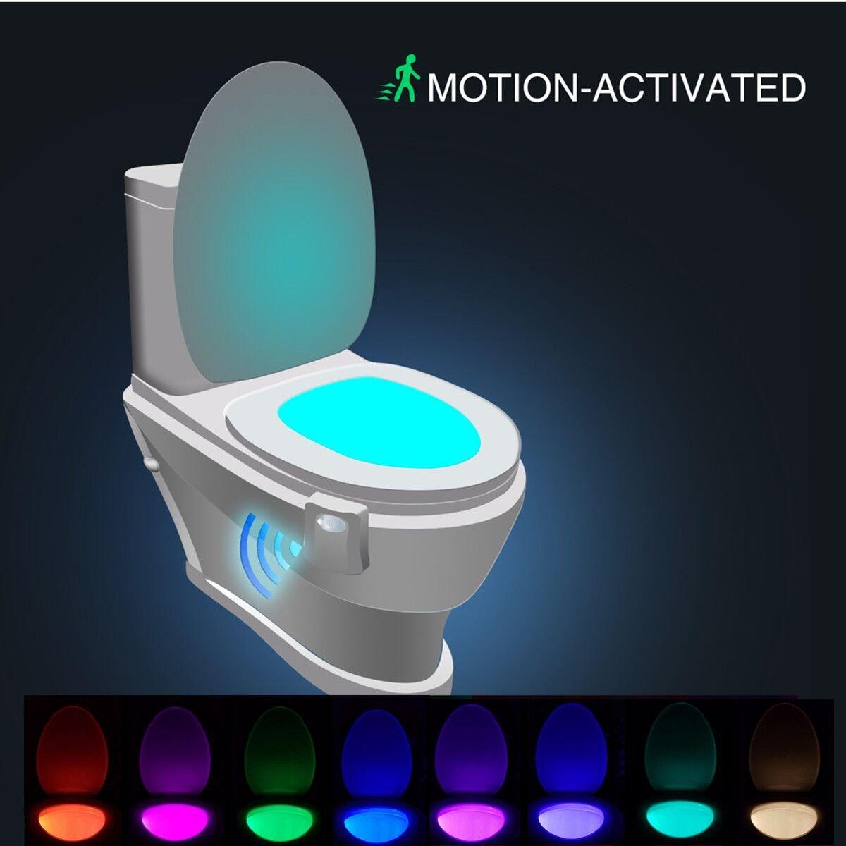 Luz de WC, SOLMORE LED luz led para el Inodoro WC con sensor Movimiento luz suave y sensor sensible Ideal para cuartos de baño con niños: Amazon.es: ...