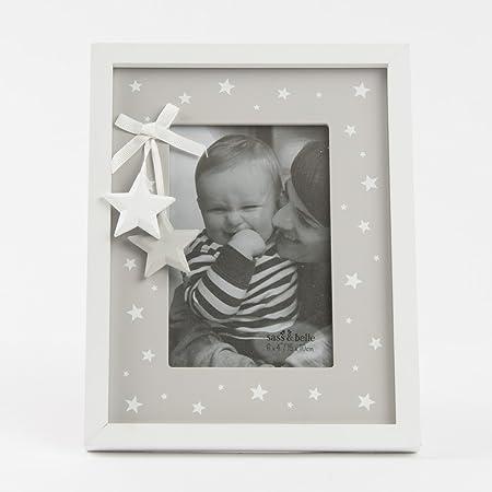 Grey & White Star Photo Frame : AD168: Amazon.co.uk: Kitchen & Home