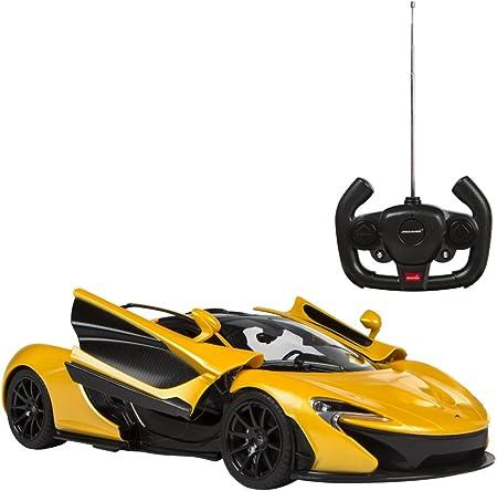 Coche teledirigido McLaren P1 de licencia y escala 1:14, color amarillo,Puertas eléctricas de tipo '