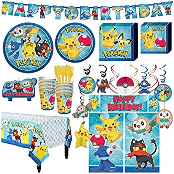 Amazon.com: Pokemon Core Birthday Decoration Party Supplies ...