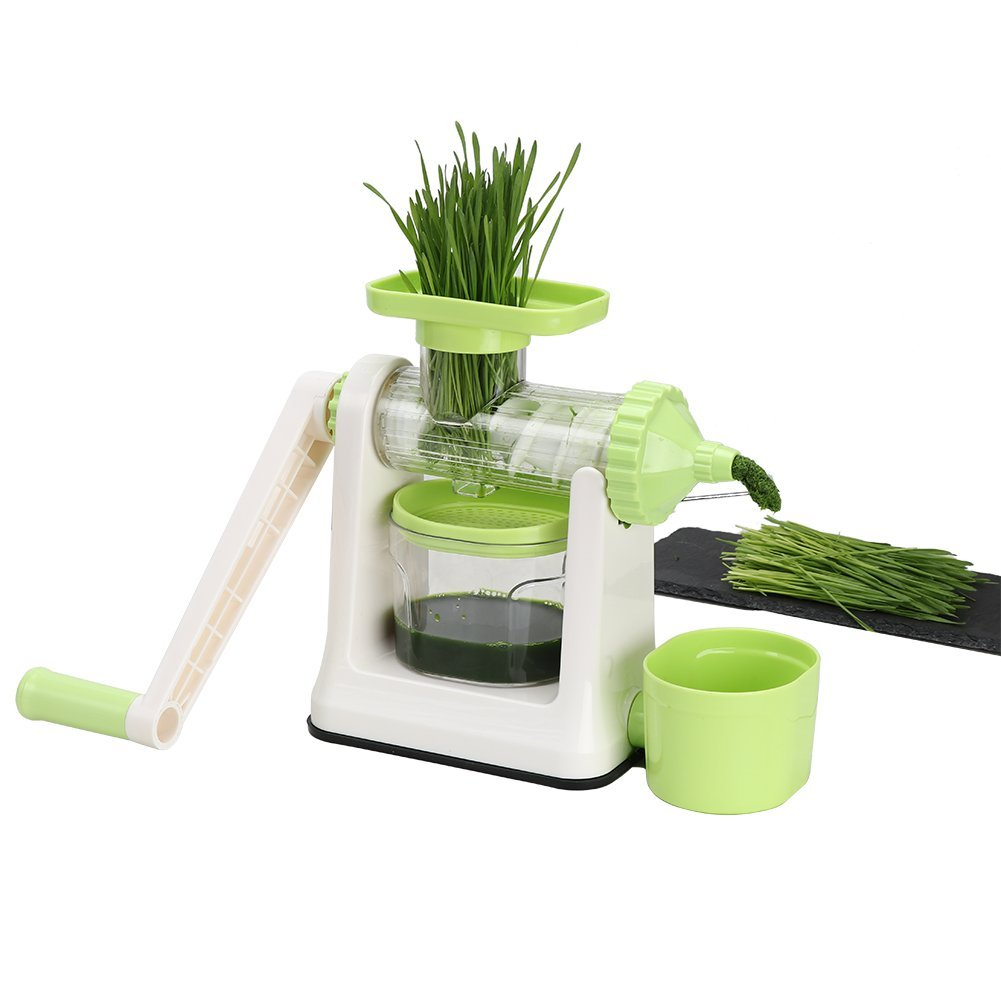 Amazon.com: Ourokhome Manual Wheatgrass Pomegranate Juicer - Hand Crank  Squeezer with Dual Fixation for Greens and Fruit to Make Pure Juice and  Puree ...