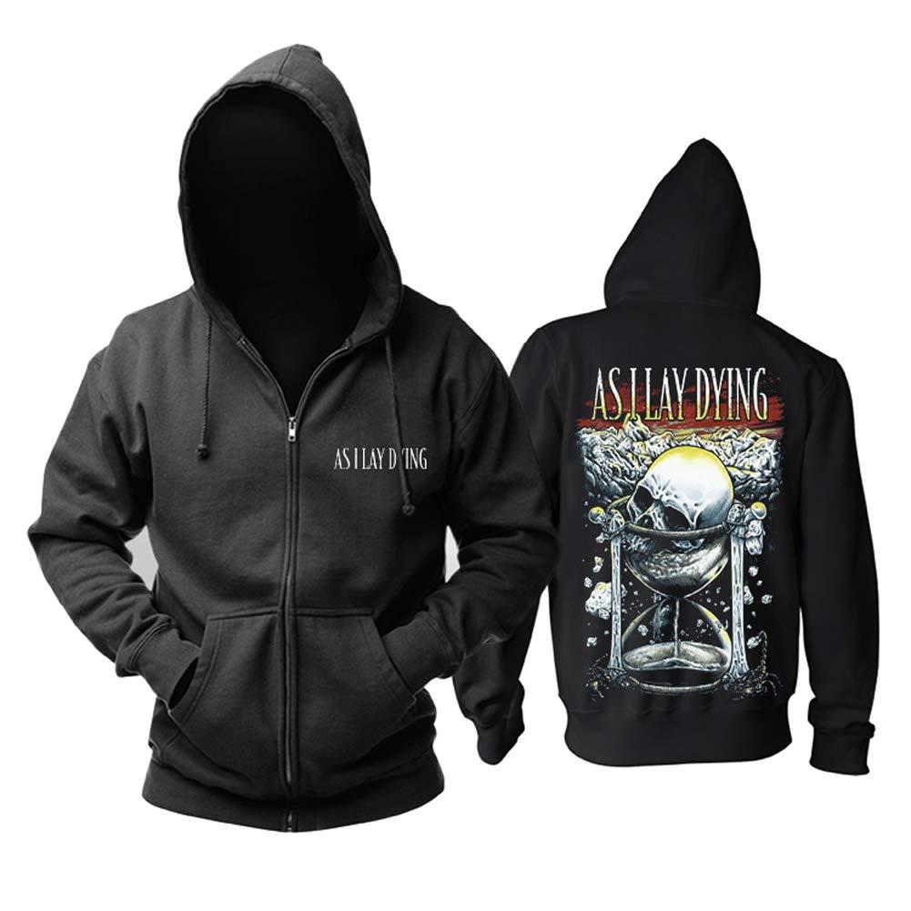 YOURNELO Unisex As I Lay Dying Fleece Lined Hoodie Zip Sweatshirt Jumper (C, XL)