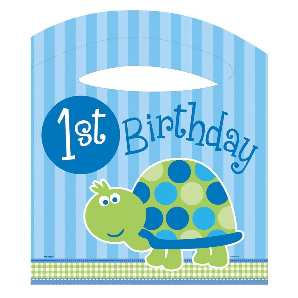 Turtle 1st Birthday Dessert Plates 8ct