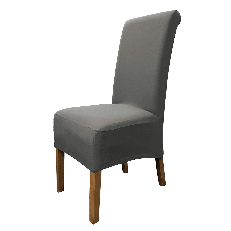 SCHEFFLER-HOME Emma Coprisedie 2 pezzi, elasticizzato Copertura della sedia, bi-elastico Vestisedia moderno, Decorativo protezione in stretch in tessuto con banda elastica per una misura universale, Coppia spandex Coprisedia, di cotone possibile altezza de
