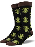 "Socksmith Mens' Bamboo Crew Socks ""Frogs"""
