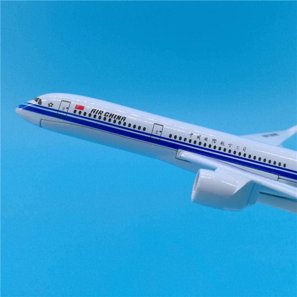 FJCY 16 cm Air China A350 mod/èle davion en m/étal Air China Decoration Collection Chine A350 mod/èle r/éduit da/éronef