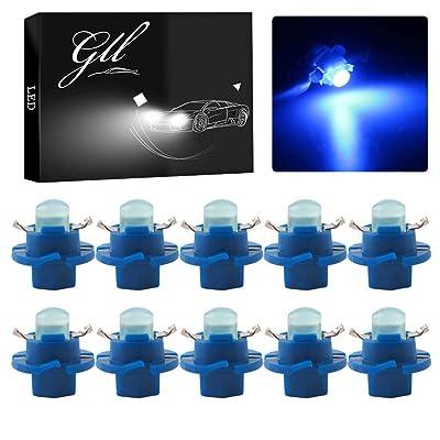 Grandview Car B8.4D COB 1SMD Blue LED Lamps Dashboard Side Indicator Lights Instrument Panel Bulb Light 12V (Pack of 10): Automotive