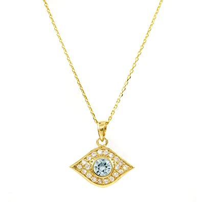 Ayasha s Gold Tone Evil Eye Necklace Emitations Amazon