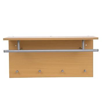 Chinkyboo Hallway Coat Hook /u0026 Storage Unit White 4 Hooks Storage Furniture  Coat Rack Rail /u0026 Storage Shelf